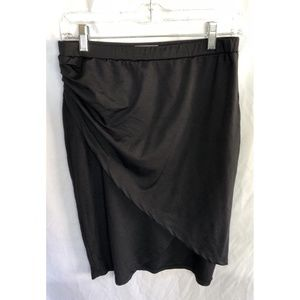 Leith Black Ruched Skirt Size M